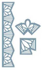 Craft Die CED10012 Sue Wilson Indian Ocean Collection -Border and Corners