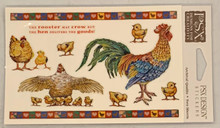 PSX Stickers Rooster and Chicken Stickers SH6475