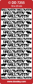 DOODEY DD7255 SILVER Halloween Peel Stickers One 9x4 Sheet