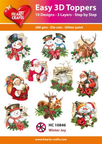 Hearty Crafts Easy 3D Toppers Winter Joy HC10846
