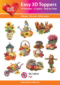 Hearty Crafts Easy 3D Toppers Fall HC12214