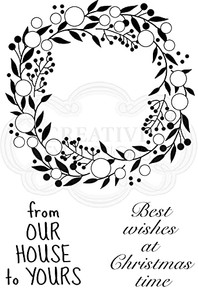 Woodware Jane Gill Clear Magic-Bubble Greenery-Stamp, A6
