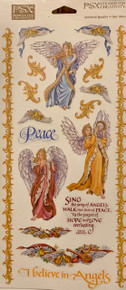PSX Stickers Musical Angels Stickers SH6050 Large Sheet