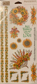 PSX Stickers Fall Bouquets Stickers SH6051 arge Sheet
