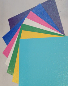 Doodlebug Sugar Coated Papers - Glitter Papers with an Iridescent Sheen! - BRIGHTS