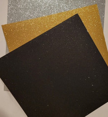 Doodlebug Sugar Coated Papers - Glitter Papers - 3pc ELEGANT