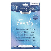 Hunkydory Moonstone Combos - Essential Words- Family - MSTONE462