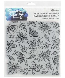 Simon Hurley Stamps-Peel-Apart Background Stamp- Playful Petals- 5 pc