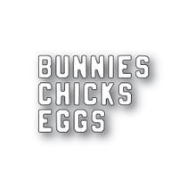 Memory Box 100% Steel Mini Vintage Varsity Chicks and Bunnies 94449