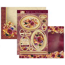 Hunkydory Crafts Forever Florals Autumn Days Luxury Topper Set- Crimson Bouquets FFAUT901