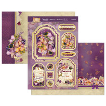 Hunkydory Crafts Forever Florals Autumn Days Luxury Topper Set- Purple Posies FFAUT904