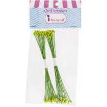 Dress My Craft -Drop Shape Wire Pollen- Pack of 2 Bunches- #2 Olive Green