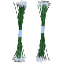 Dress My Craft -Drop Shape Wire Pollen- Pack of 2 Bunches- #3 White