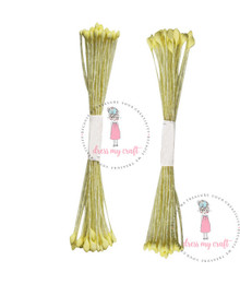 Dress My Craft - Pointed Thread Pollen- Pack of 2 Bunches- Yellow