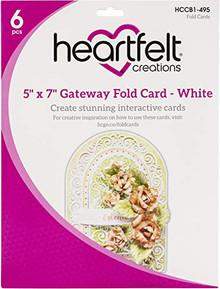 Heartfelt Creations White Gateway FOLD Card 5X7