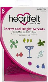 Heartfelt Creations Cut & Emboss Dies-Merry & Bright Accents