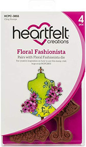 Heartfelt Creations Cling Rubber Stamp Set-floral Fashionista