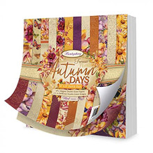 """Hunkydory Crafts Forever Florals Autumn Days- 8"""" x 8"""" Paper Pad- FFAUT103"""