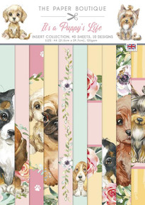 The Paper Boutique- It's a Puppy's Life- A4 Insert Collection- 40 sheets, 10 designs
