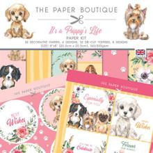 "The Paper Boutique- It's a Puppy's Life- Paper Kit 8"" x 8"""