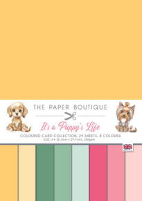 The Paper Boutique- It's a Puppy's Life- A4 Coloured Card Collection- 24 sheets, 8 colors