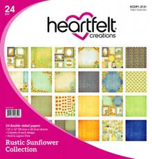 HEARTFELT CREATIONS HCDP1-2131 Heartfelt Paper Collection- Rustic Sunflower Collection