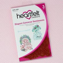 Heartfelt Creations- Elegant Gateway Sentiments Cling Stamps