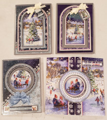 Live Stream Class Kit Christmas Sparkle SNOWY21-904 -- Hunkydory Crafts - Makes 4 Cards