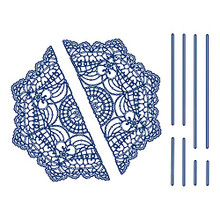 Tattered Lace Priceless Pleats- Doily Wrap Cutting Die 898091