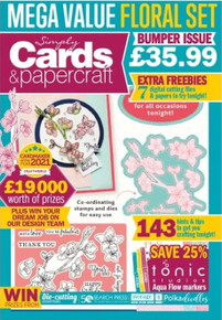Simply Cards & Papercraft Magazine Issue 215- Cherry Blossom Kit
