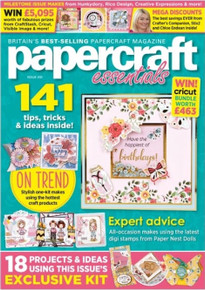 Papercraft Essentials Magazine Issue 200 - 200th Birthday Special Edition- Floral Shaker Card Kit
