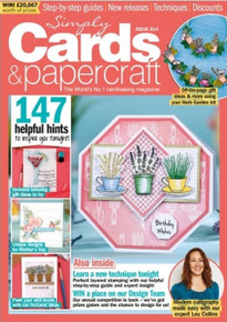 Simply Cards & Papercraft Magazine Issue 214- Herb Garden Kit