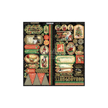 Graphic 45 4502122 Christmas Time Collection- Stickers