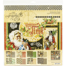 Graphic 45 4502119 Christmas Time 12' x 12' Collection Pack