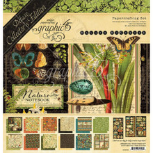 Graphic 45 4502093 Nature Notebook 12' x 12' Papercrafting Set