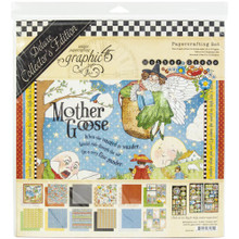 Graphic 45 4502185 Mother Goose 12' x 12' Papercrafting Set