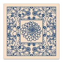 "Tattered Lace 8""x8"" Embossing Folder- Floral Frame 896049"