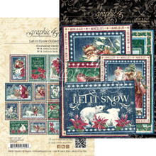 Graphic 45 4502327 Let It Snow Collection- Journaling Cards