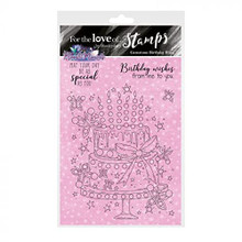 Hunkydory Crafts- for The Love of Stamps - Gemstone Birthday Bling A6 Stamp - FTLS821