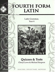 Fourth Form Latin Quizzes and Tests