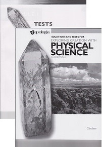 Apologia Exploring Creation with Physical Science Solution and Test Manual
