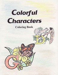 Colorful Characters Coloring Book