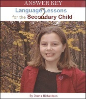 Language Lessons for the Secondary Child 2 Answer Key