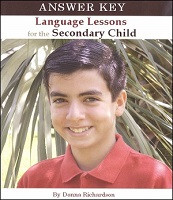Language Lessons for the Secondary Child 1 Answer Key