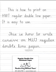 Regular Double Line Notebook Paper