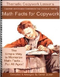 Copywork - Math Facts