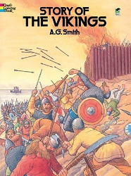 Story of the Vikings Coloring Book