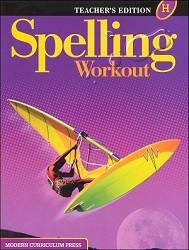 Spelling Workout H Teacher - 2002