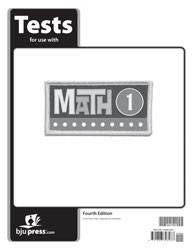 Math 1 Tests 4th Edition