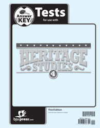 Heritage Studies 4 Test Key 3rd Edition